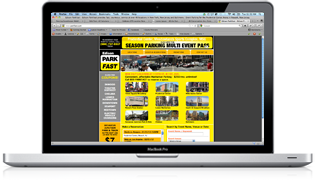 A screenshot of the website designed and built for Edison ParkFast