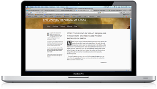 A screen shot of The Unified Republic of Stars homepage
