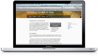 A screen shot of a The Unified Republic of Stars wiki page
