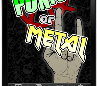 Punk or Metal Launch Screen