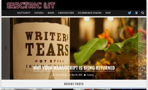 The new homepage for Electric Literature
