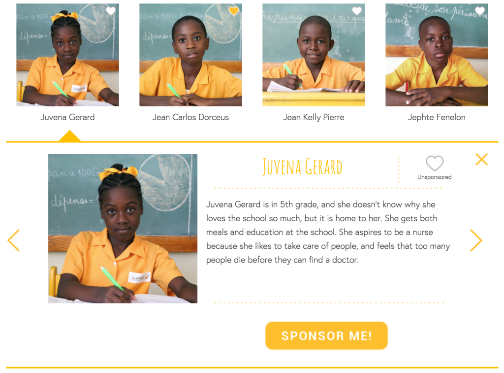 Children's Project of Haiti Sponsorship Widget