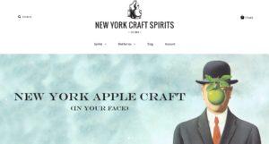 The New York Craft Spirits homepage